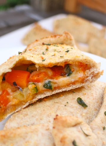 Roasted Vegetable Whole Wheat Calzones