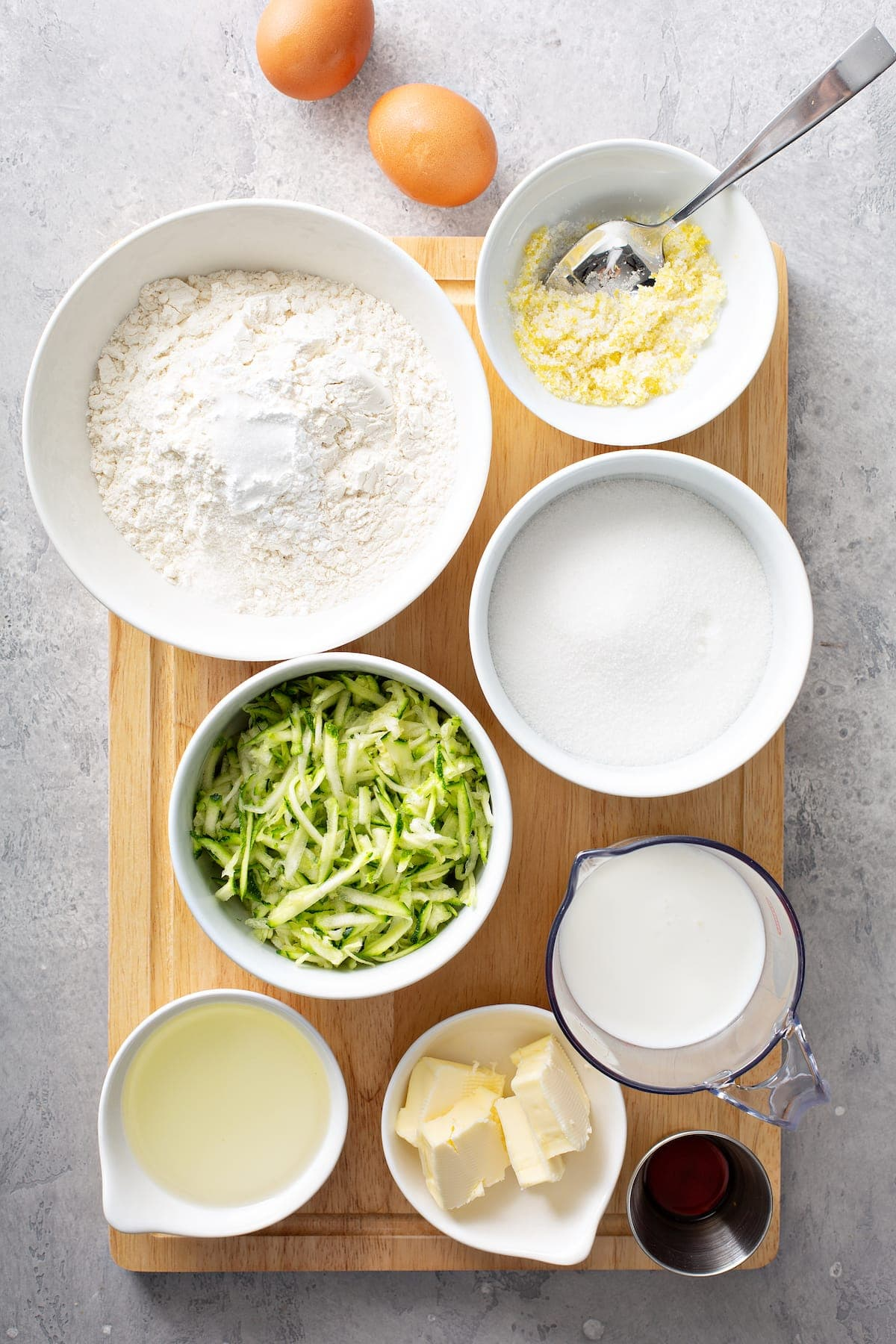 zucchini loaf ingredients