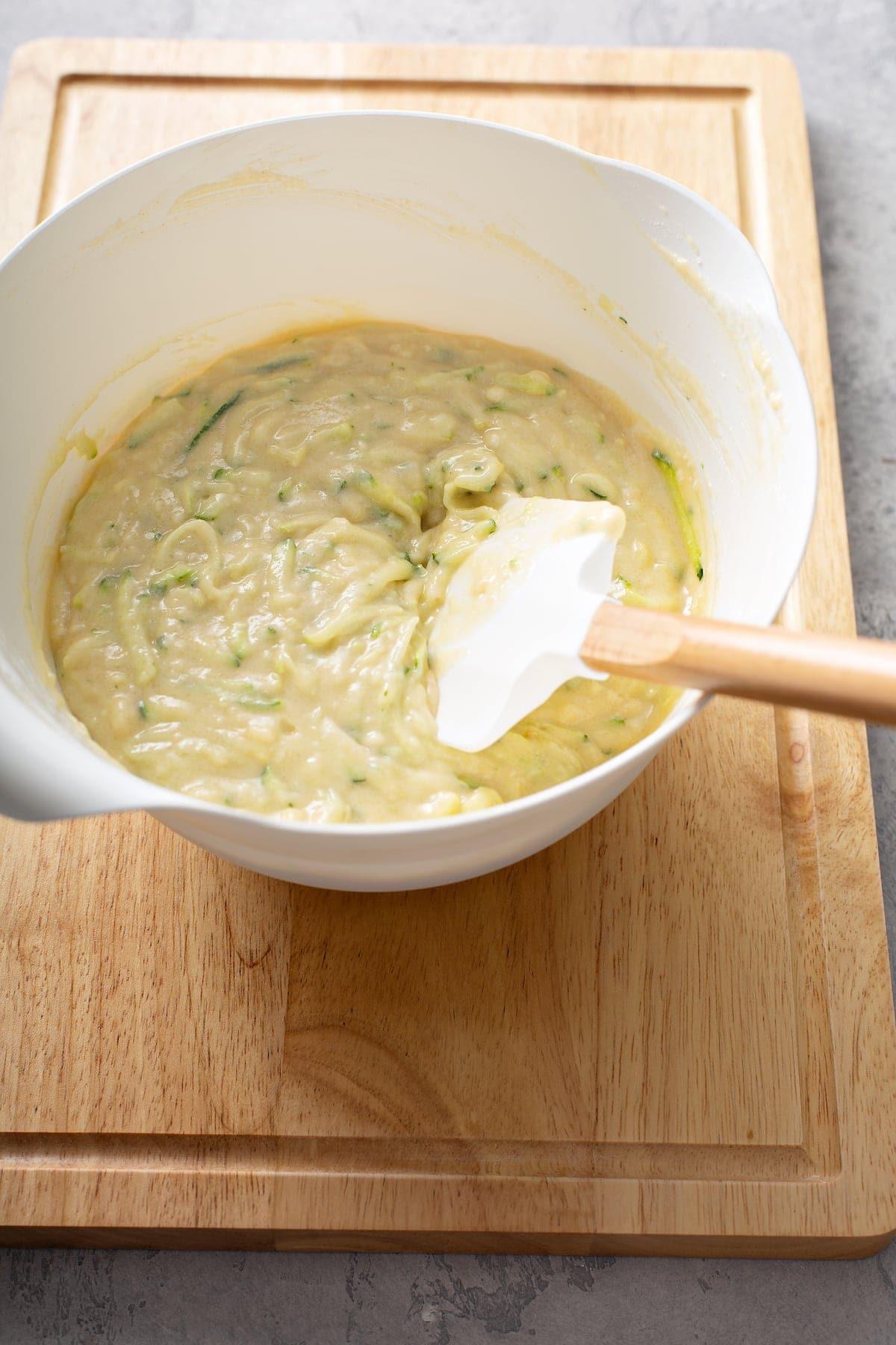 zucchini loaf batter