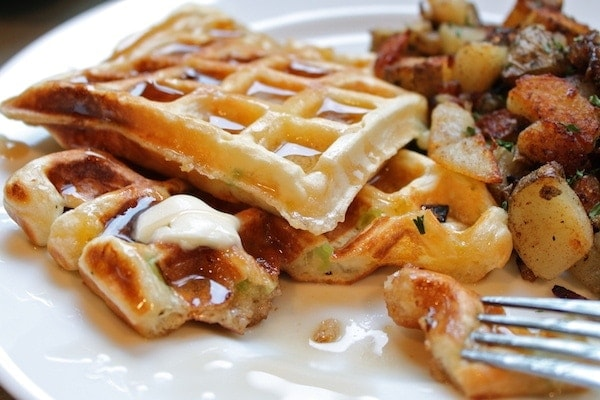 Savory Waffles and Hashbrowns