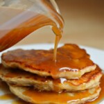 Apple Pancakes with Caramel Syrup