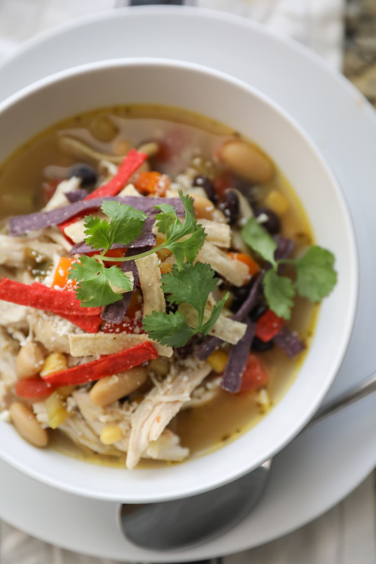 bowl of chicken tortilla soup