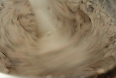 Mixing ice cream