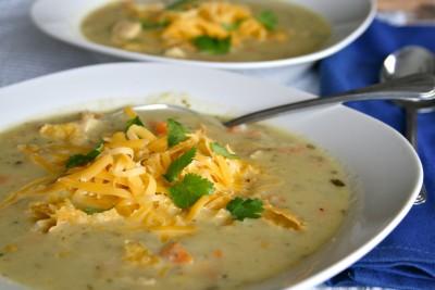 Creamy Green Chile Soup