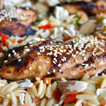 Asian Chicken & Orzo Salad