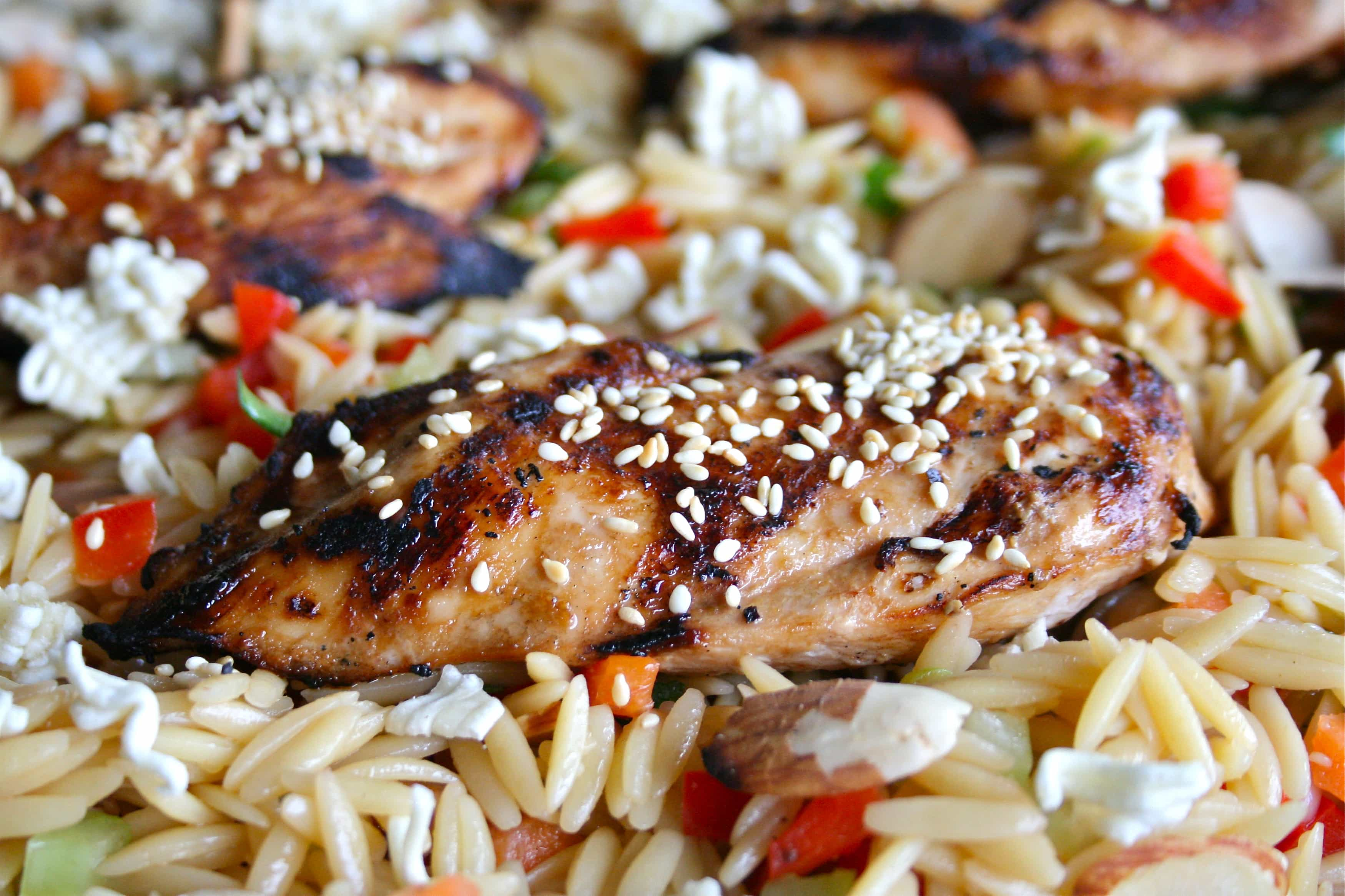 Asian Chicken & Orzo Salad