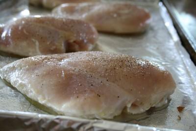 Seasoned raw chicken