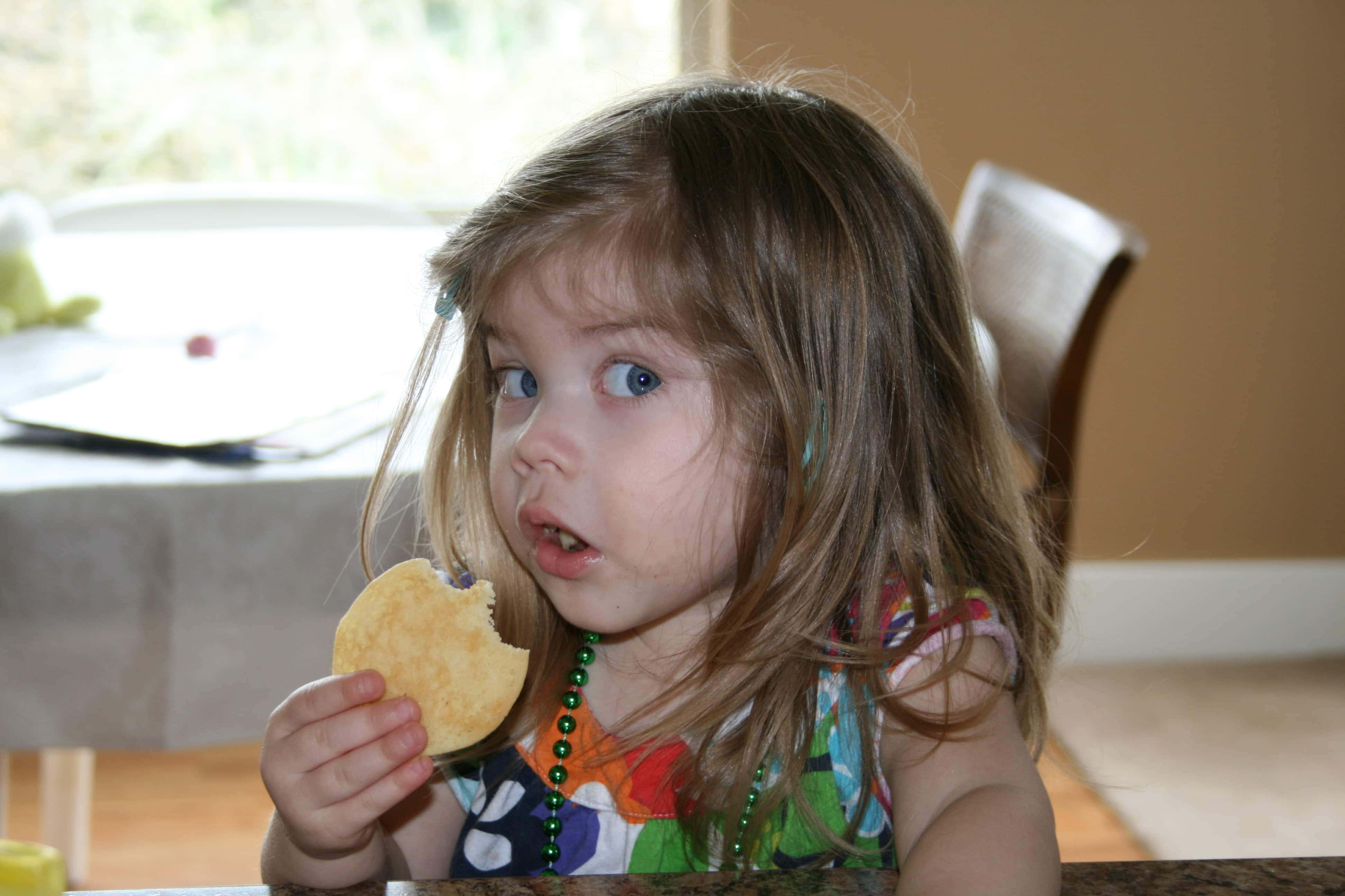 Brooke eating a cookie