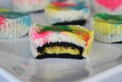Tie Dyed Oreo Cheesecakes