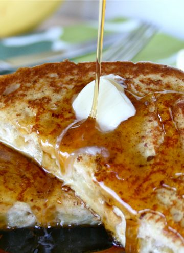 Caramelized Banana & Cream Cheese Filled French Toast