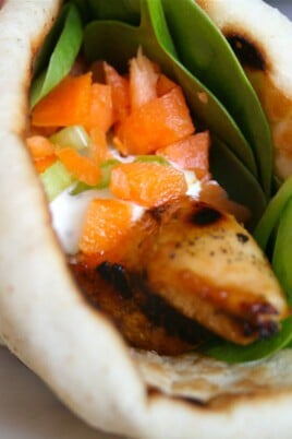 Grilled Chicken Wing & Blue Cheese Wraps