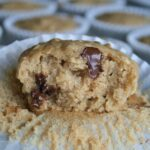 bite out of whole wheat banana oat muffin