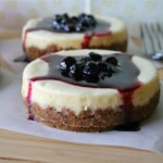 Lemon Cheesecakes with Blueberry Compote