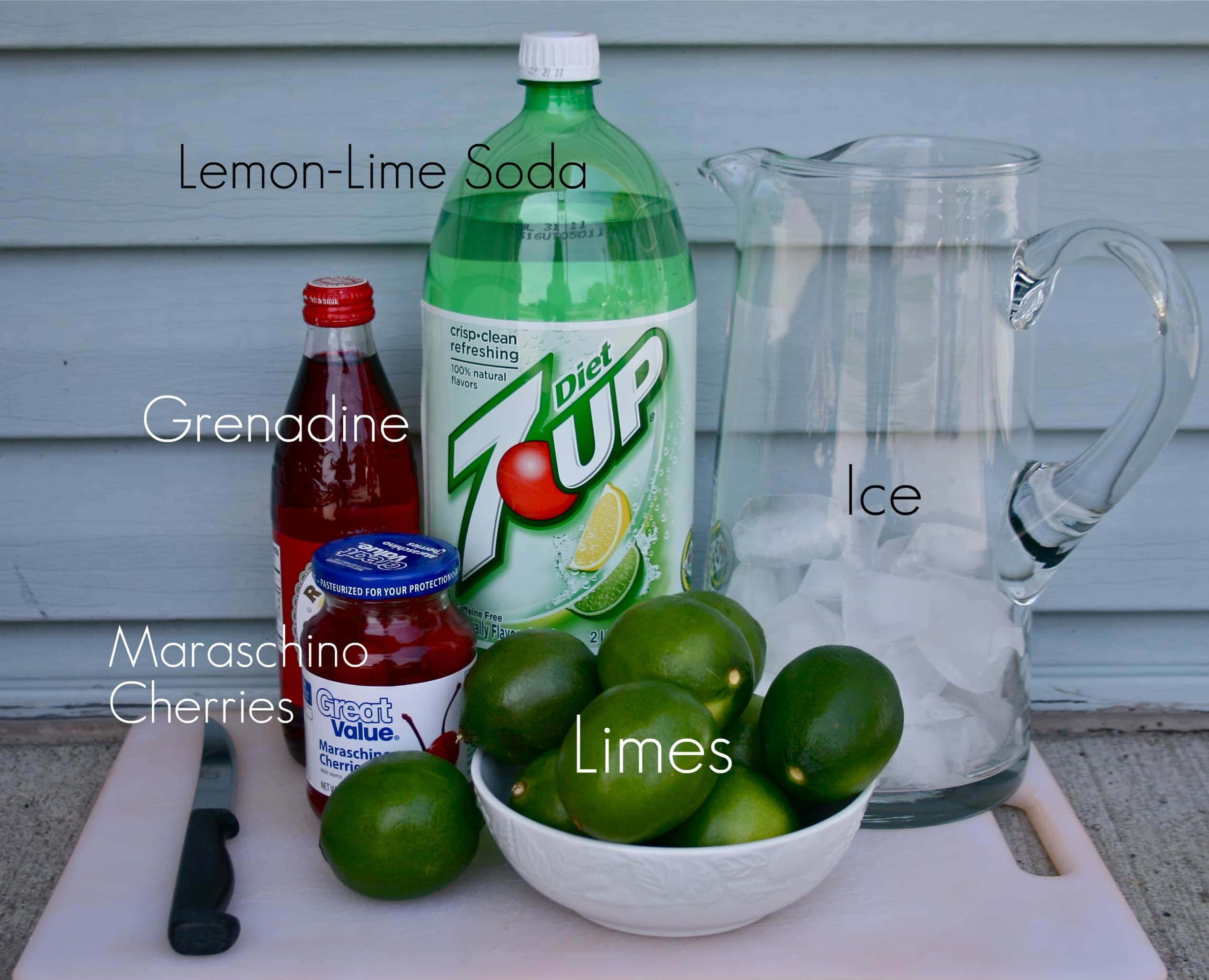 ingredients for cherry limeade