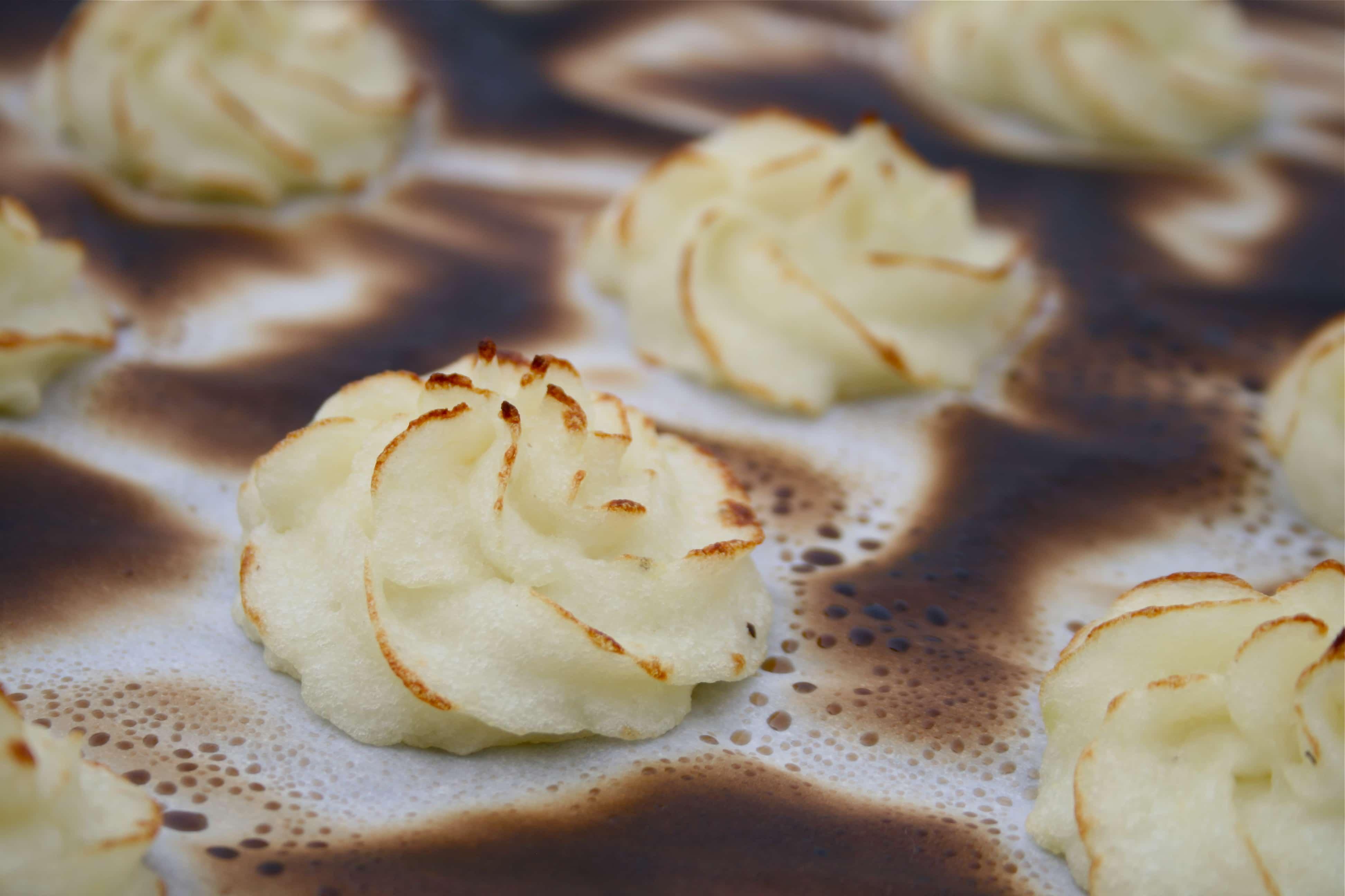 Crispy Mashed Potato Rosettes