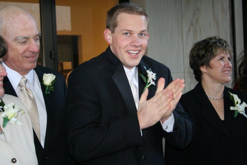 Gordon in a suit