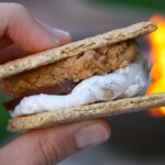 Peanut Butter Cookie Dough Filled S'mores