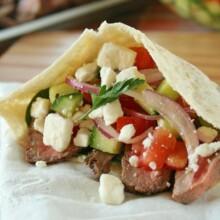 Greek Steak Salad Pita Pockets