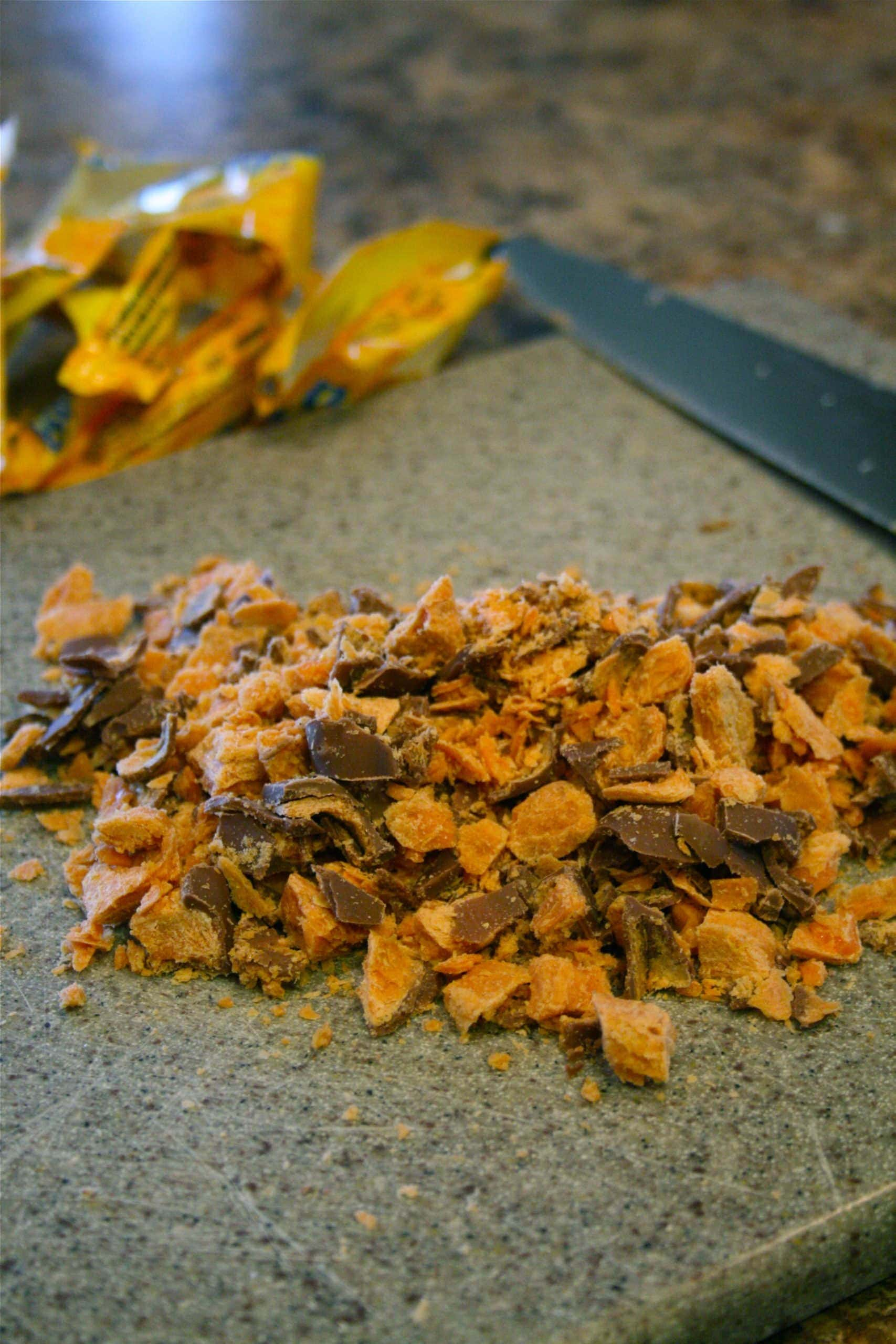 chopped butterfingers