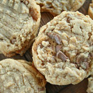 Caramel Kiss Peanut Butter Cookies