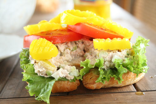 Banana Peppers on Tuna Sandwich