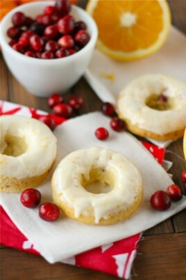 Cranberry Orange Cake Doughnuts