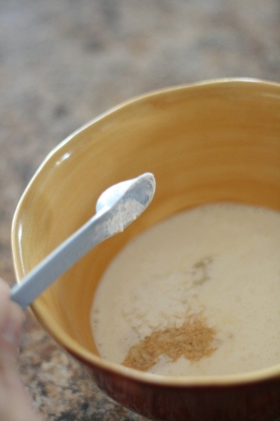 adding powdered sugar