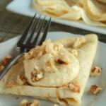 Pumpkin Cream Cheese Topped Cinnamon Vanilla Crepes