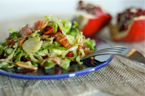Brussels Sprouts Salad on a plate