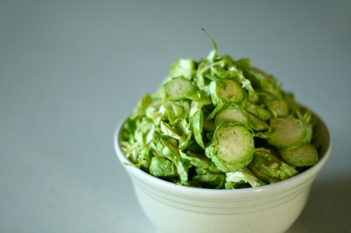 sliced brussel sprouts