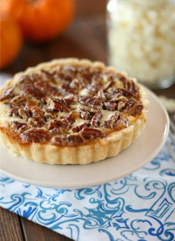 White Chocolate Cheesecake Pecan Pie Tarts