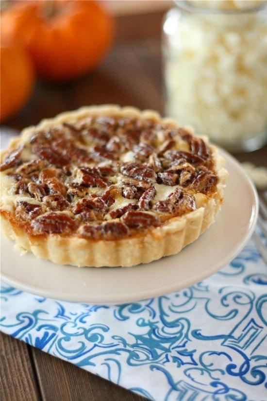 White Chocolate Cheesecake Pecan Pie Tarts