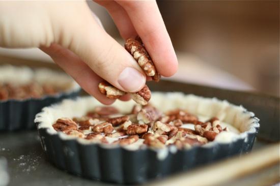 chopped pecans in tarts