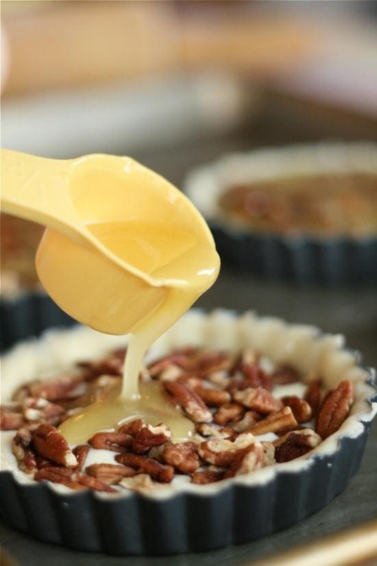 egg sugar mixture in tart