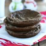 Double Chocolate Candy Cane Kiss Cookies