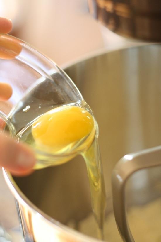 Adding an egg