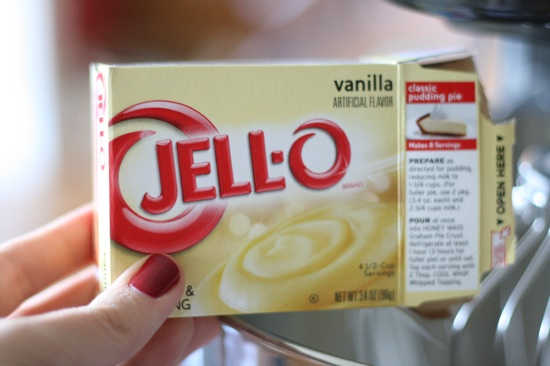 Jello vanilla pudding mix