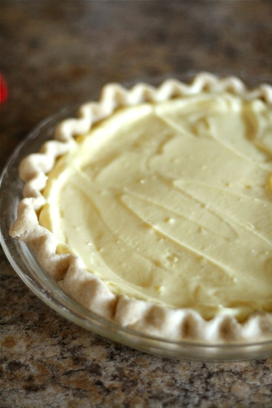 Egg Nog Cream Pie