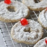 Hazelnut Shortbread Wreath Cookies