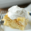 egg nog bread pudding with cinnamon whipped cream