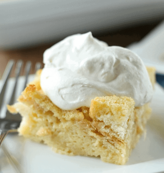Egg Nog Breakfast Bread Pudding With Cinnamon Whipped
