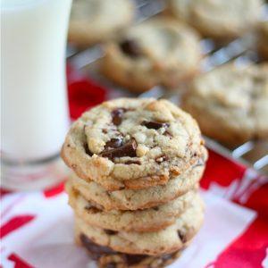 Brown Butter Dark Chocolate Chunk Cookies
