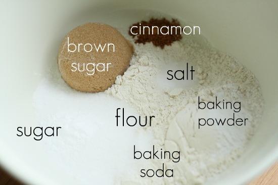 Dry ingredients unmixed
