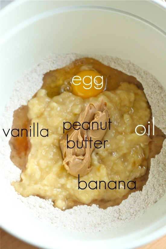 Adding in wet ingredients