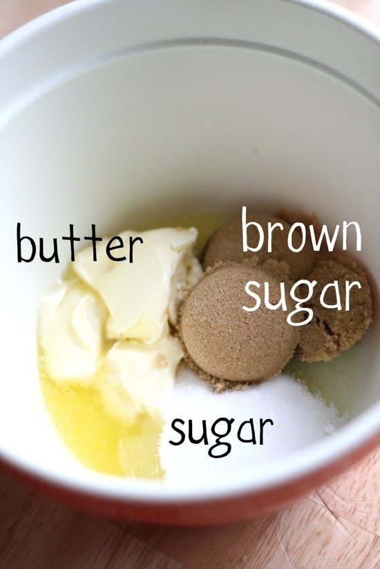 butter and sugars