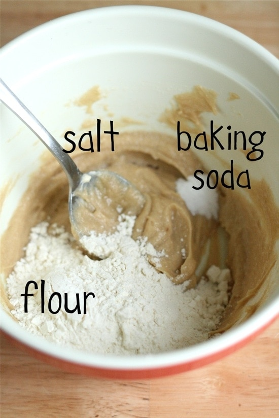 baking soda, salt and flour