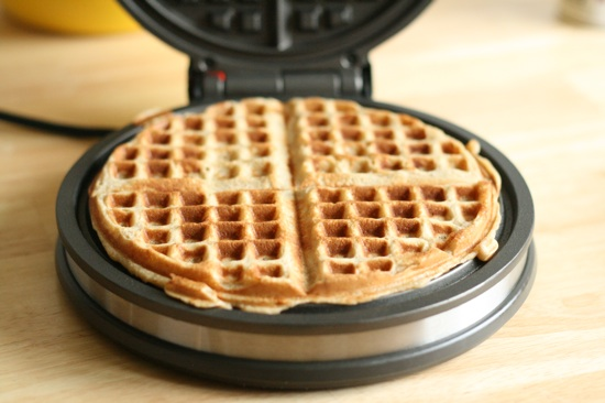 Whole Wheat Banana Bread Waffles