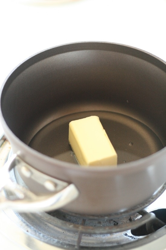 Butter and oil in a pot
