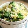 macaroni with broccoli and peas