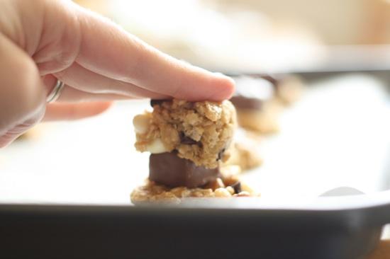 Snickers Stuffed Loaded Peanut Butter Oatmeal Cookies